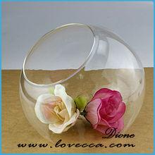 blown glass vase / big cylinder decorative glass vase / beautiful glass vase