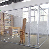 Alibaba high quality security chain link dog kennel/aluminum dog kennel