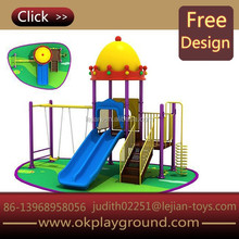 Low-price promotion castle theme swing sets small outdoor playsets