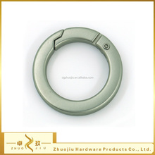 High quality Zinc alloy 22mm silver round flat gate metal hook ring