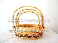 3pcs hand woven willow baskets