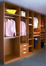 Modern Wood bedroom wall wardrobe design