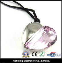 Heart Shape Crystal Usb 2.0 Driver Bulk(USB-DA333)