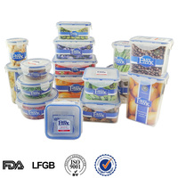 Heat resistant airtight microwave food grade plastic food container