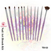12 pieces beauty nail art brush for manicure