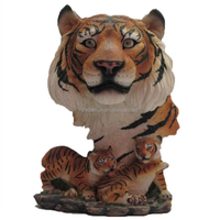 DS0507 tiger head statue with tiger baby statue