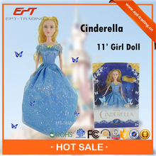 """Lovely 11"""" small solid body plastic fashion doll for selling"""