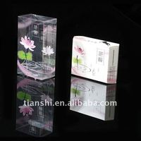 Clear plastic perfume box