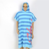 Microfiber printed adult hooded surf poncho beach towel