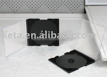 5.2mm Single Super Slim PS CD Jewel Case With Black Tray
