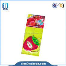 2014 Factory direct sales100% non-toxic sexy lips shapes Paper Car Air Freshener