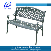 Hot sale cast aluminum outdoor garden bench with antique style