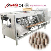 Automatic Wood Broom Stick Thread and Round End Making Machine