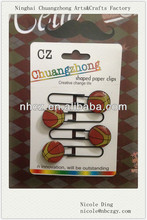 Fancy Basketball Bookmark Paper Clips