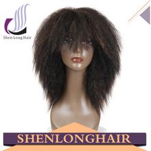 Quality guaranteed japanese kanekalon futura fiber lace wig, italian yaki full lace wig