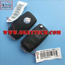 Top quality vw remeot key 3 button 1KO 959 753 N 433Mhz, ID48chip vw remeot key vw key
