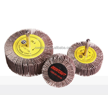 abrasive polishing flap wheel with shank/non-woven sanding cloth wheel
