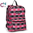 pink plaid bold de desporto de lazer saco de escola