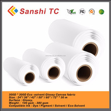 Glossy Blank Canvas Art in roll for EPSON/CANON/HP/BROTHER/MUTOH