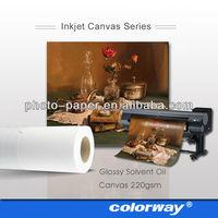 Roll Size heavy cotton inkjet canvas fabric wholesale