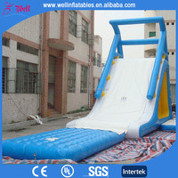 cheap inflatable floating water slide / adult size inflatable water slide for sale