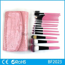 Professional Sex products mini cute personalized makeup brush set with a PU cosmetic wholesale bag