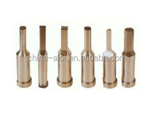 screw head punch and cylindrical steps punch and flat pin and punch
