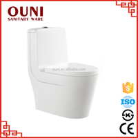 ON827 New design wc double vortex duanl flush one piece toilet seat