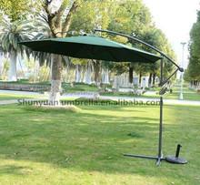 outdoor patio hanging and sun garden parasol 3M waterproof banana umbrella
