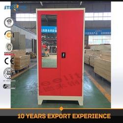 Factory Direct Sale 2 Door Portable Waterproof Cheap Metal Wardrobe / Steel Closet Locker with stand feet / Armoire Garderobe