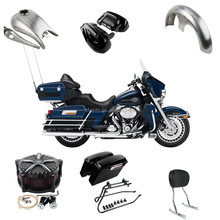 Motorcycle Saddlebag Headlight fairing fender tank footpeg air firter for Harley davidson Touring Road King