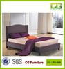 new design very hot sell KD sample farbric brown bed with nail