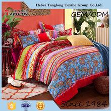 Designer King Queen Size Gift Indian Handmade Embroidered Silk Thread Bedspread & Mirror Worked Cotton Home Furnishing Bedspread