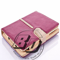 New Stylish Rotating Suede Leather Smart Tablet Case Cover Stand With Sleep/Wake For Apple iPad air 2 iPad 6 tablet case