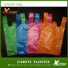 colored plastic bags with handles/cheap t-shirt plastic bag