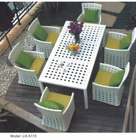 Outdoor Furniture Set Patio Furniture Cast Iron Second Hand Dining Catering Table And Chairs 4Seats Restaurant