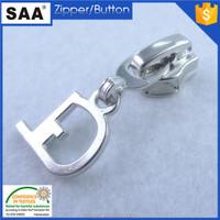 Fashion zipper slider low price auto lock zinc alloy metal zipper slider