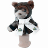imprinted t-shirt bandana plush stuffed soft brown Aviator Bear Golf Club Cover toys custom logo embroidery beanbag mascot band