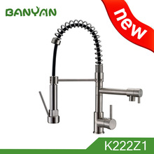 pull out 3 way spring kitchen faucet tap mixer swivel