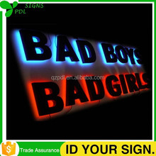 Waterproof Reverse Customized Led Signage Letters