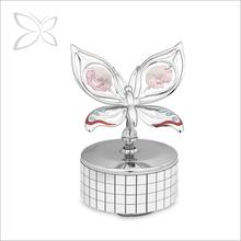 Haute qualité mignon Sliver plaqué métal boîte à musique pour le cadeau