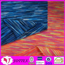 2015 custom new design 4 way stretch spandex7% polyester93% mixed color fabric for sportswear underwear