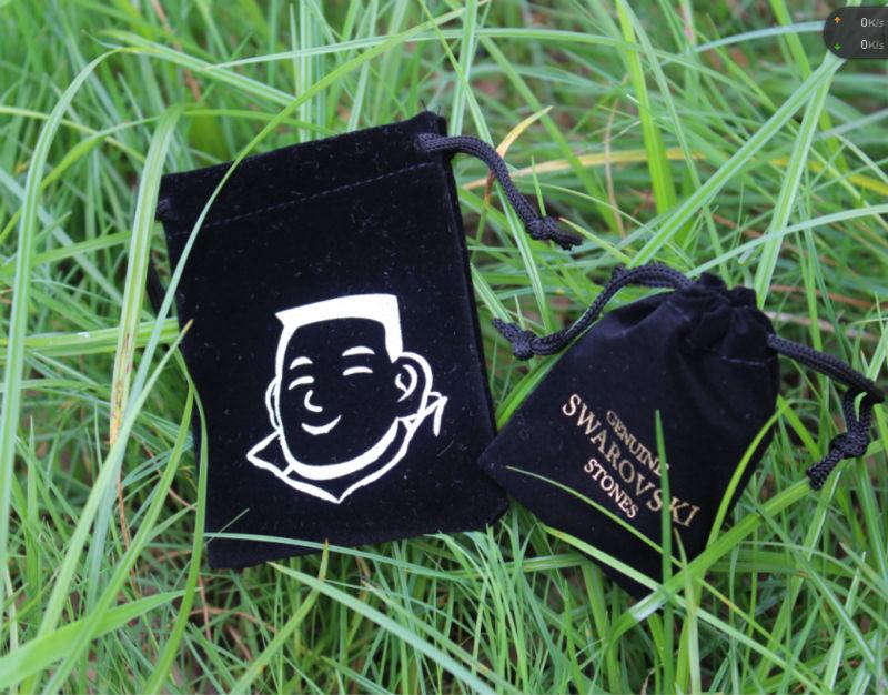 personalized china supplier drawstring silk velvet gift bag