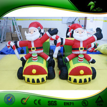 2015 hot sale large inflatable outdoor christmas train decoration