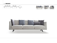 Latest simple style home furniture fabric sofa set design MM3A84#