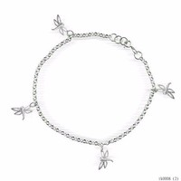 Fashion Trending Hot For Woman Fashion Silver Wholesale Body Chain Multi Dragonflies AnkletS