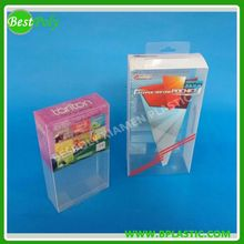 Transparent PET & PVC plastic box for retail packing