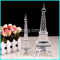 Paris' Eiffel Tower Model of Crystal;Exalted Clear K9 Crystal Eiffel Tower Figurine;Prevailing Crystal Tour Eiffel Souvenirs