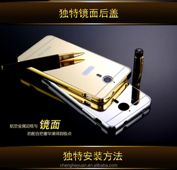 hot products gold aliuminum metal bumper mirror plastic case back cover for letv 1 pro