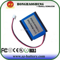 523450 7.4v 800mah rechargeable lithium ion battery